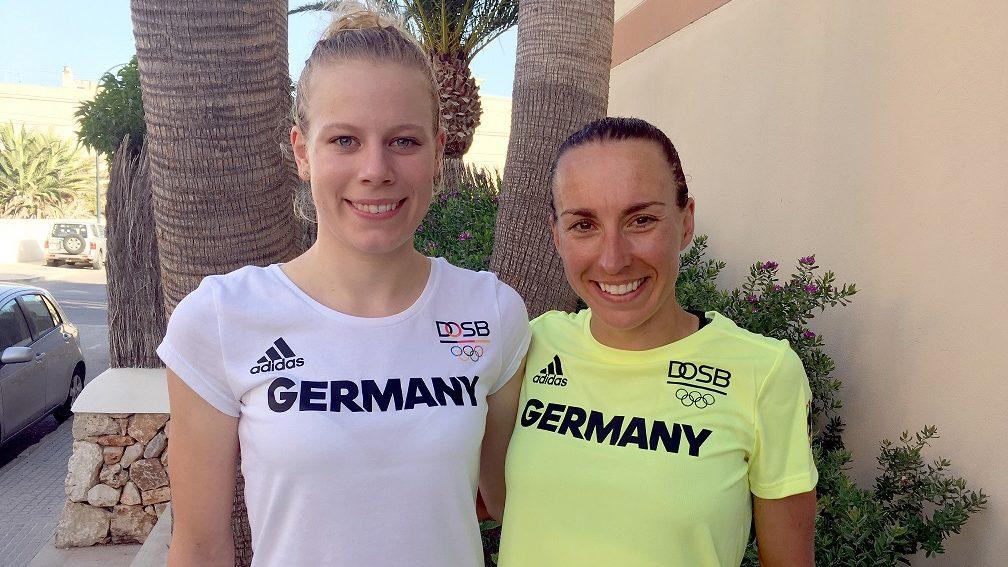 Laura Lindemann (links) und Anne Haug. (Foto: DTU)
