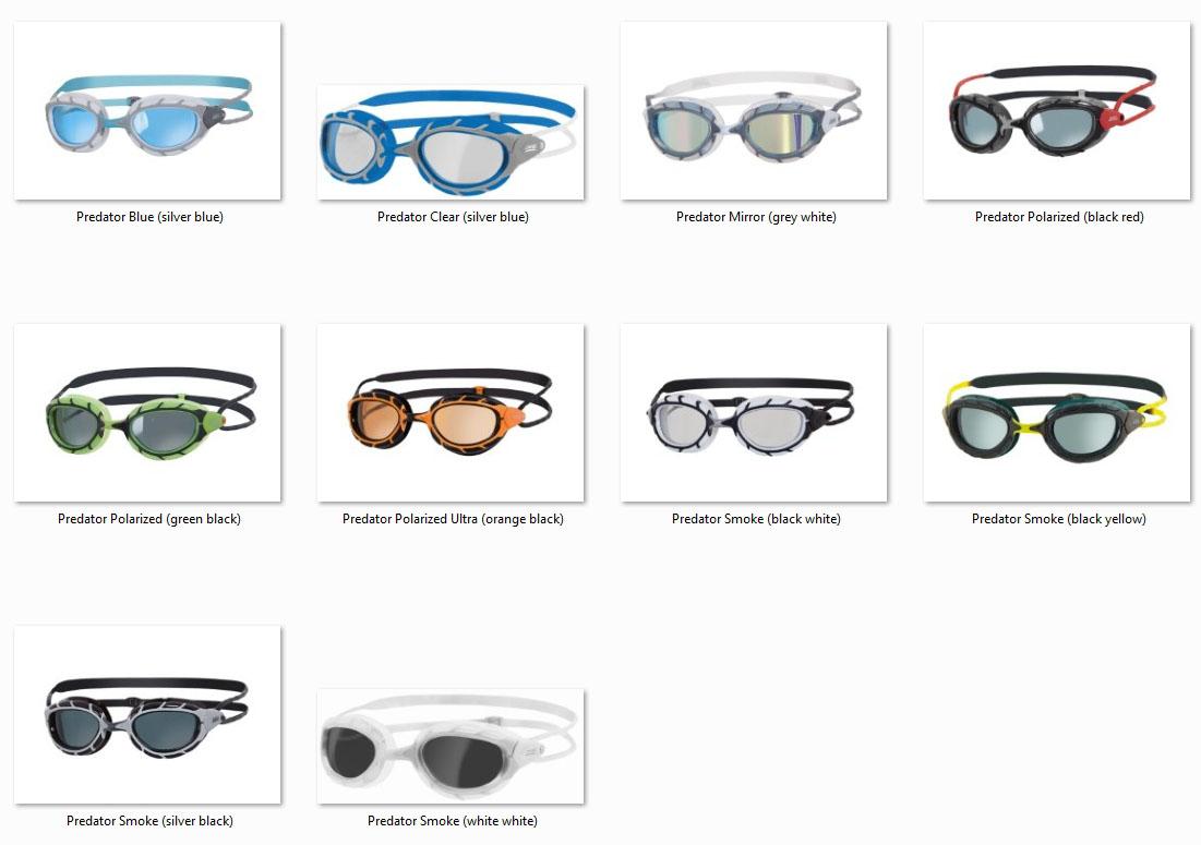 Die Farb-Varianten der Zoggs Predator
